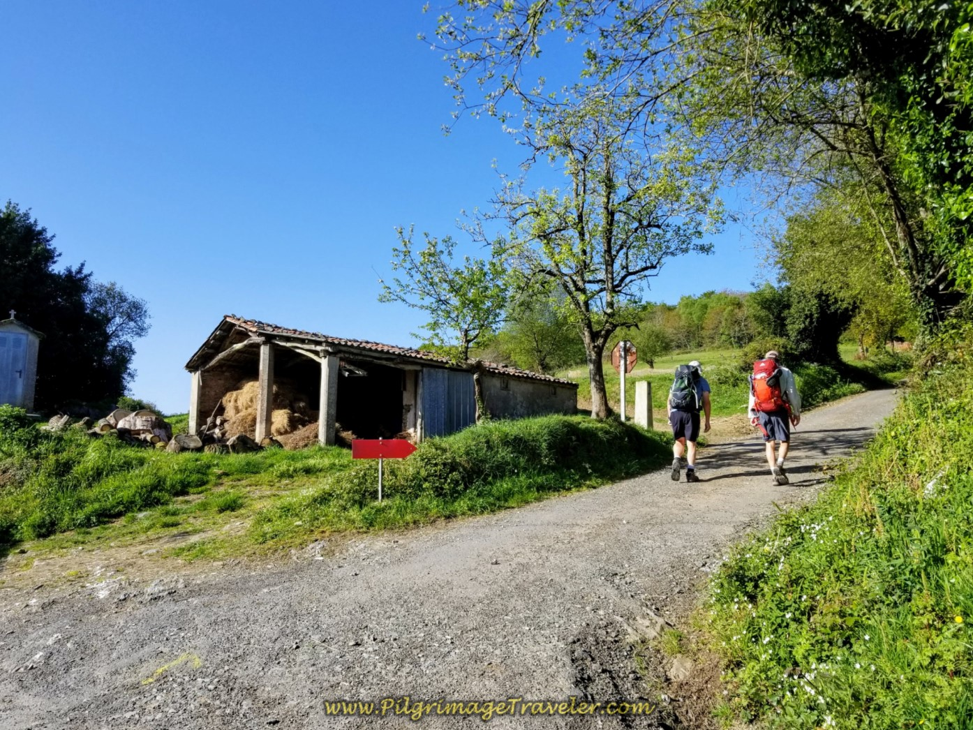 Rob and Rich Climbing Out of Vao on day six of the Camino Inglés
