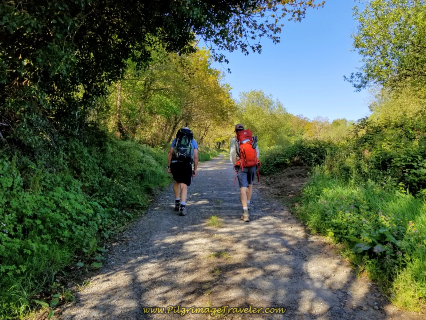 Rob and Rich on Gravel Lane on day six of the Camino Inglés