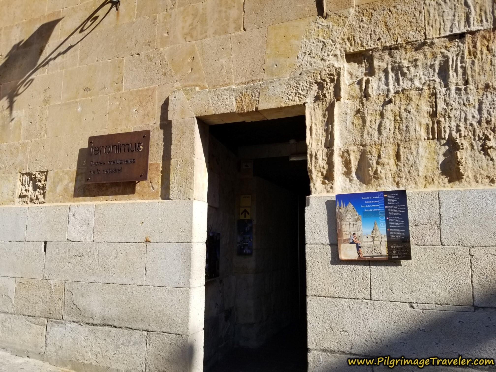 Ieronimos Tower Entrance, Old Cathedral, Salamanca