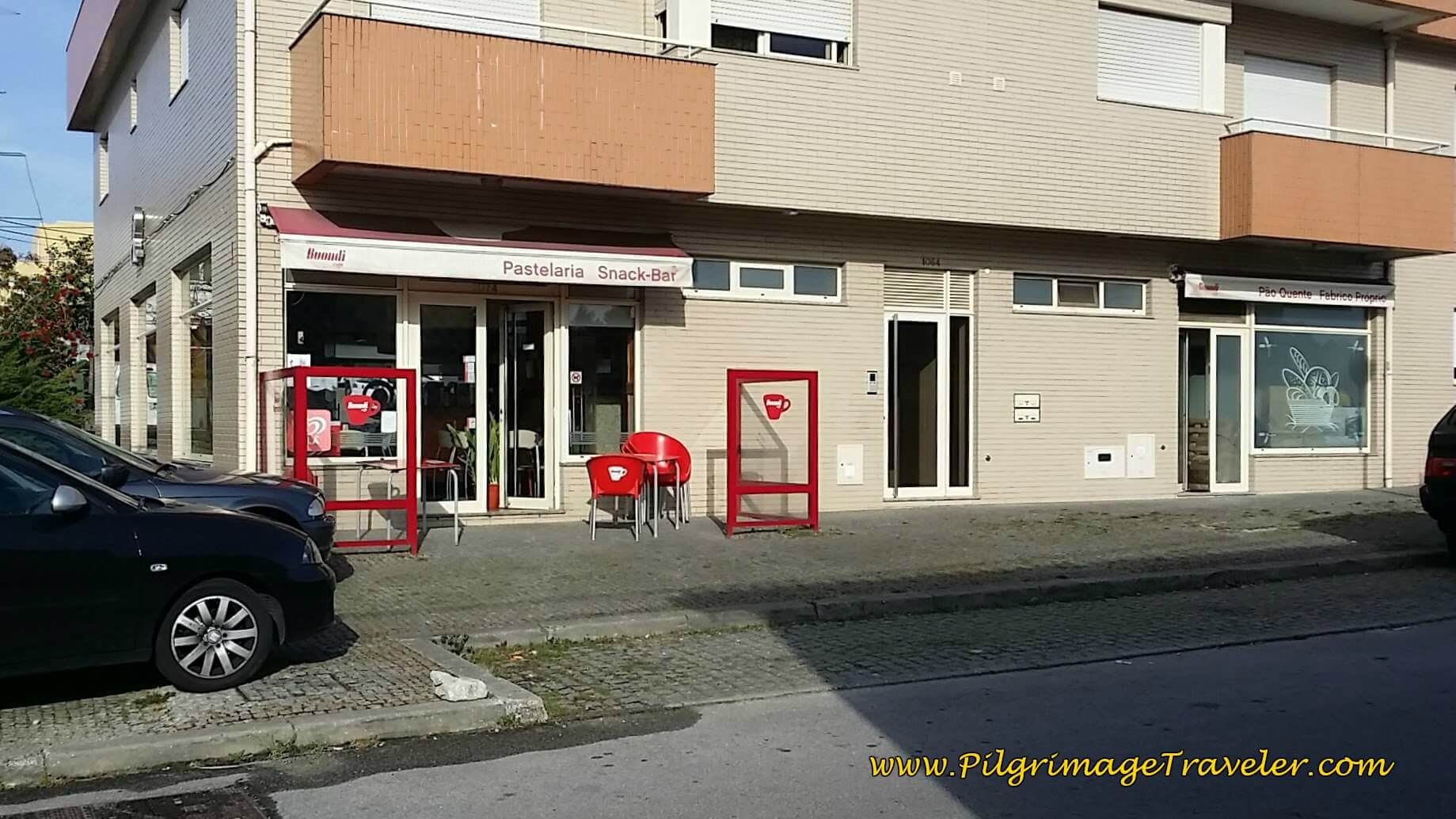Doce Romana Pastry Shop on the Rua Romana in Lourosa on day fourteen of the Camino Portugués
