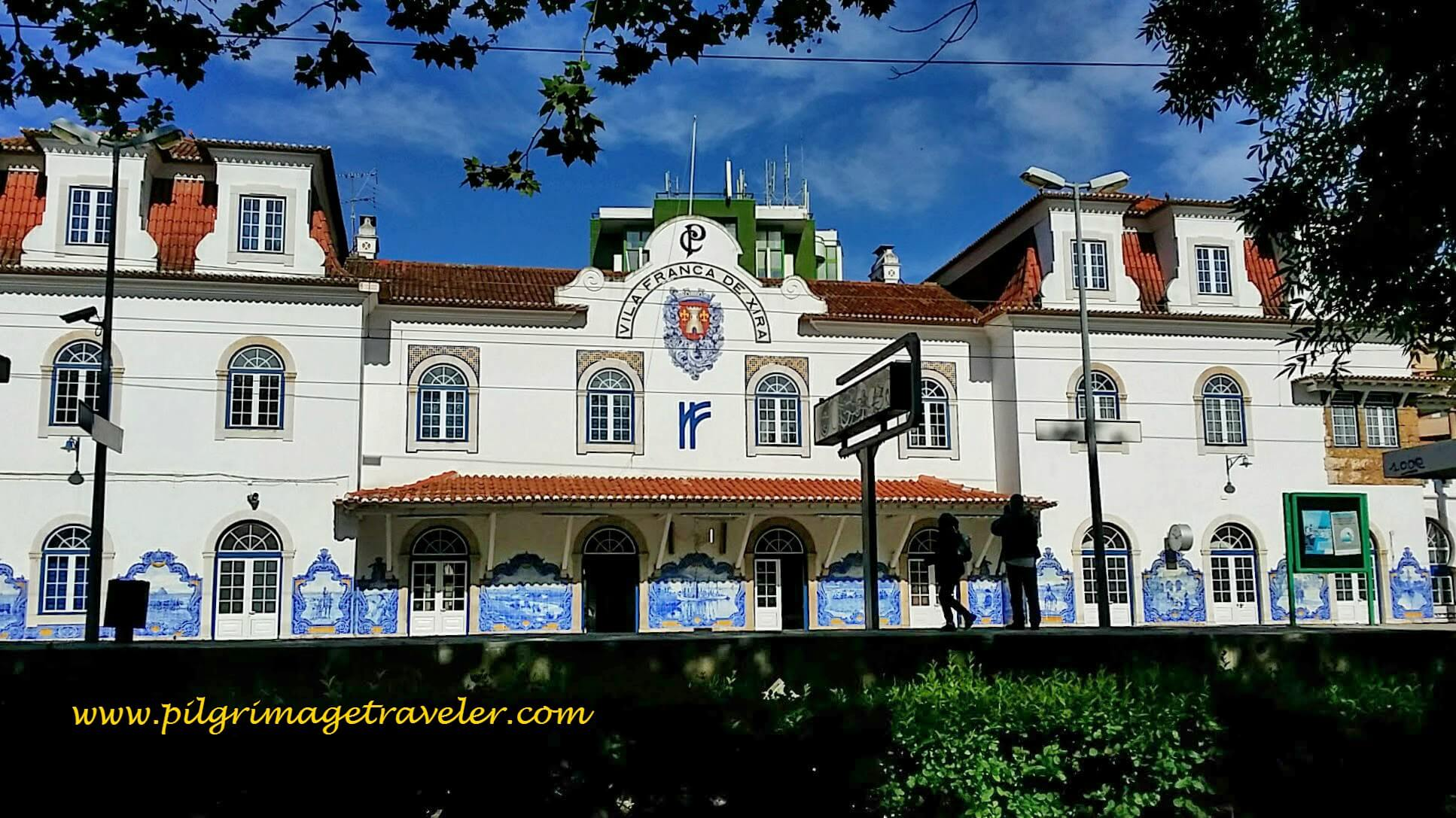The Famous Train Station at Vila Franca de  Xira, Portugal