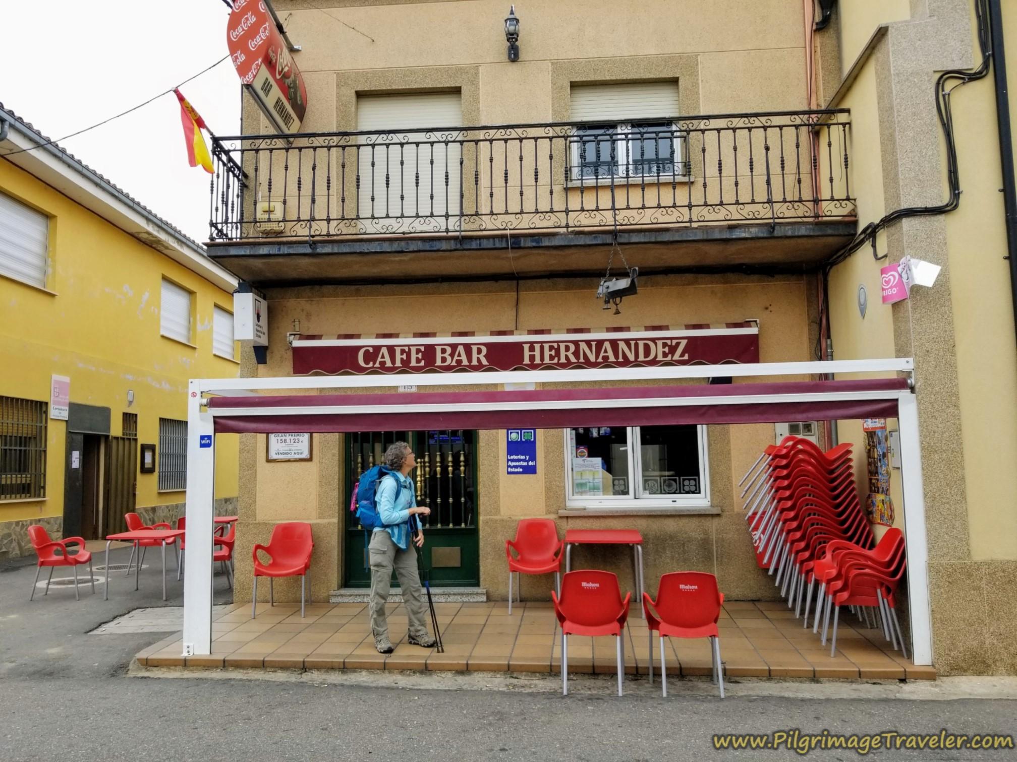 Café Bar Hernandez, El Cubo de Tierra del Vino, along the Vía de la Plata from Cañedino to Villanueva de Campeán
