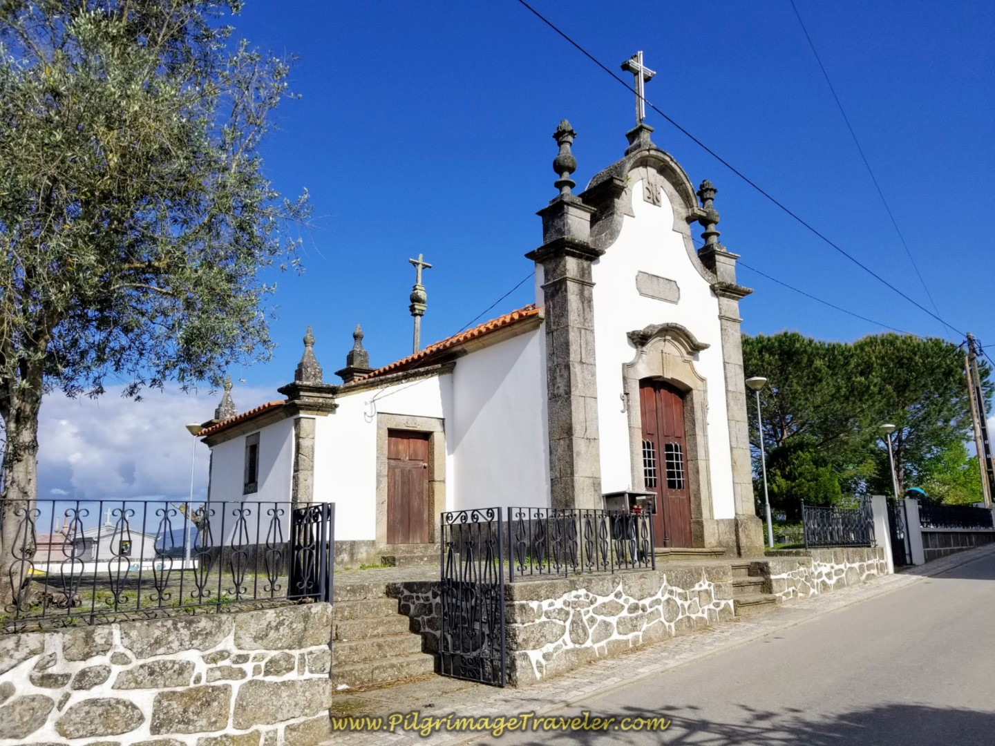 Chapel in Fontoura on day nineteen on the Central Route of the Portuguese Camino