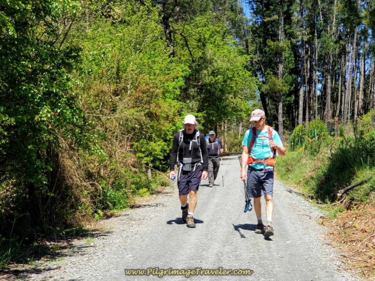 Rob, Steve and Rich Continue Onward on the Flat, Gravel Road on day five of the English Way