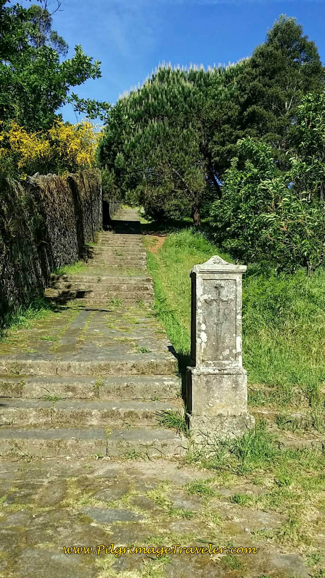 More Stairs to Santiaguiño do Monte in Padrón on Day Twenty-Four, Portuguese Way