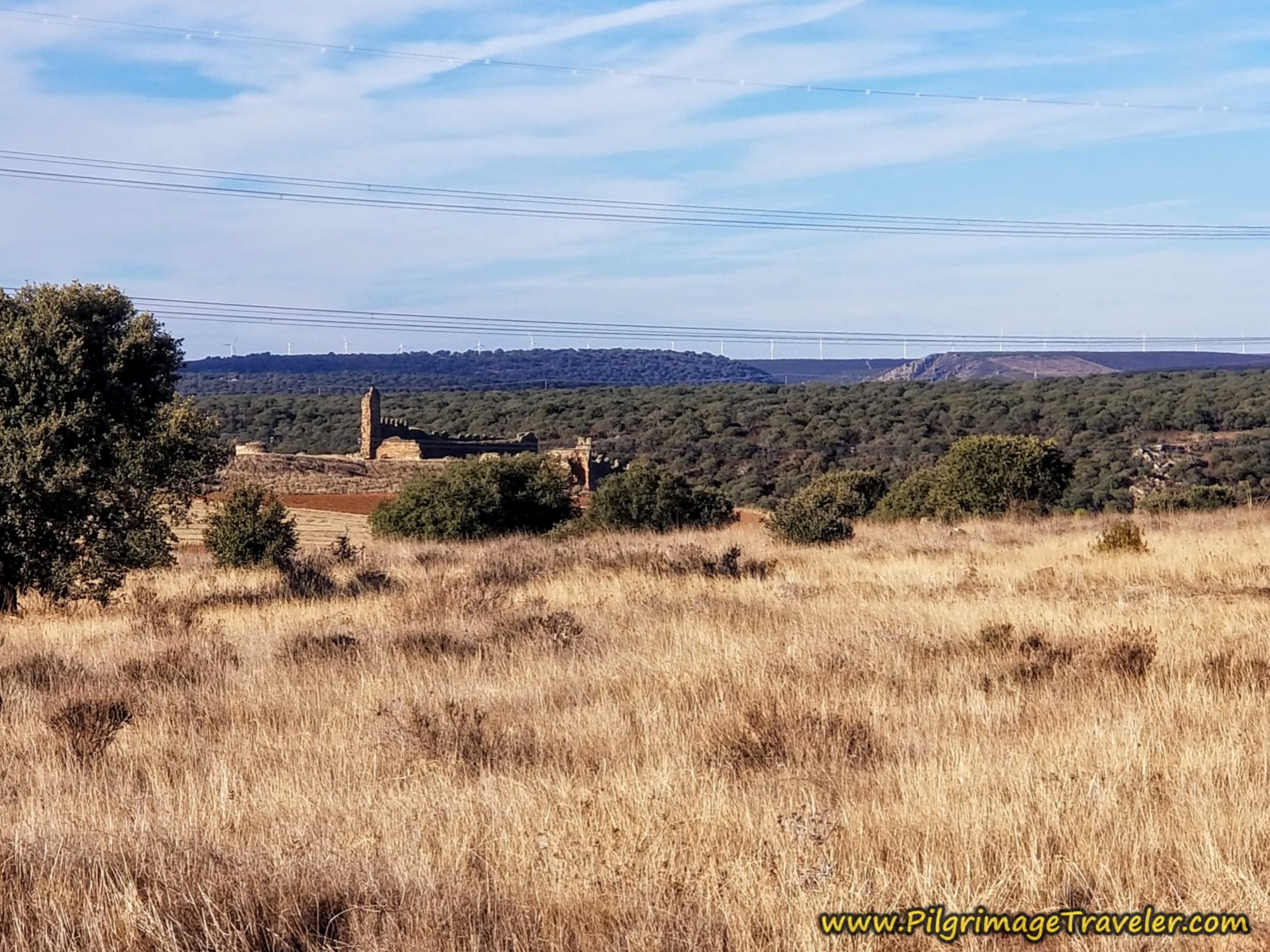 Ruined Castle of Zamora Above the Esla River