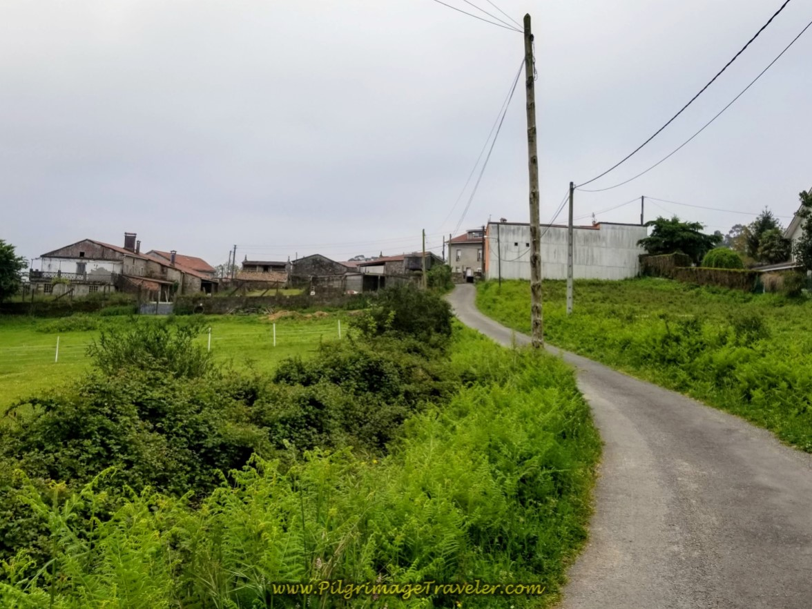 The Outskirts of O Carballal on day one of the Camino Finisterre