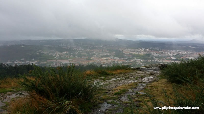 View of Santiago de Compostela from the top of Monte Pedroso, Galicia, Spain.