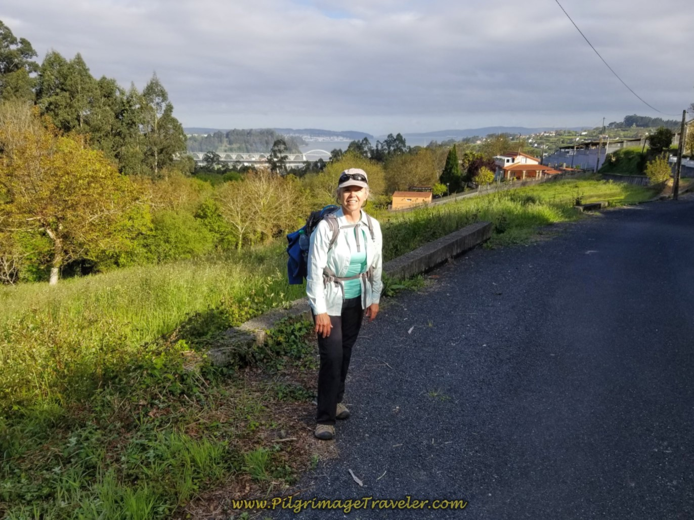 Elle at Halfway Point on day five of the Camino Inglés