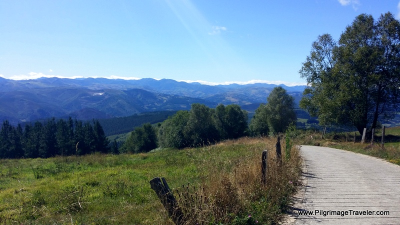 Camino Turns Downhill Toward Obona on day four of the Camino Primitivo