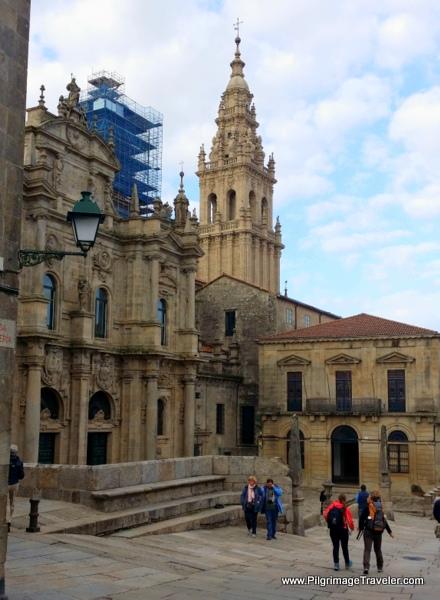Crossing the Praza de Inmaculada, Santiago de Compostela