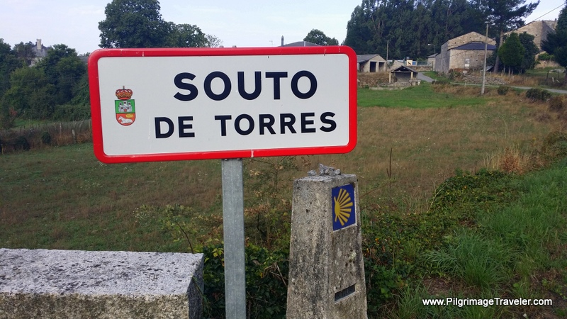 Bench at Crossroads Before Town, Souto de Torres, Galicia, Spain
