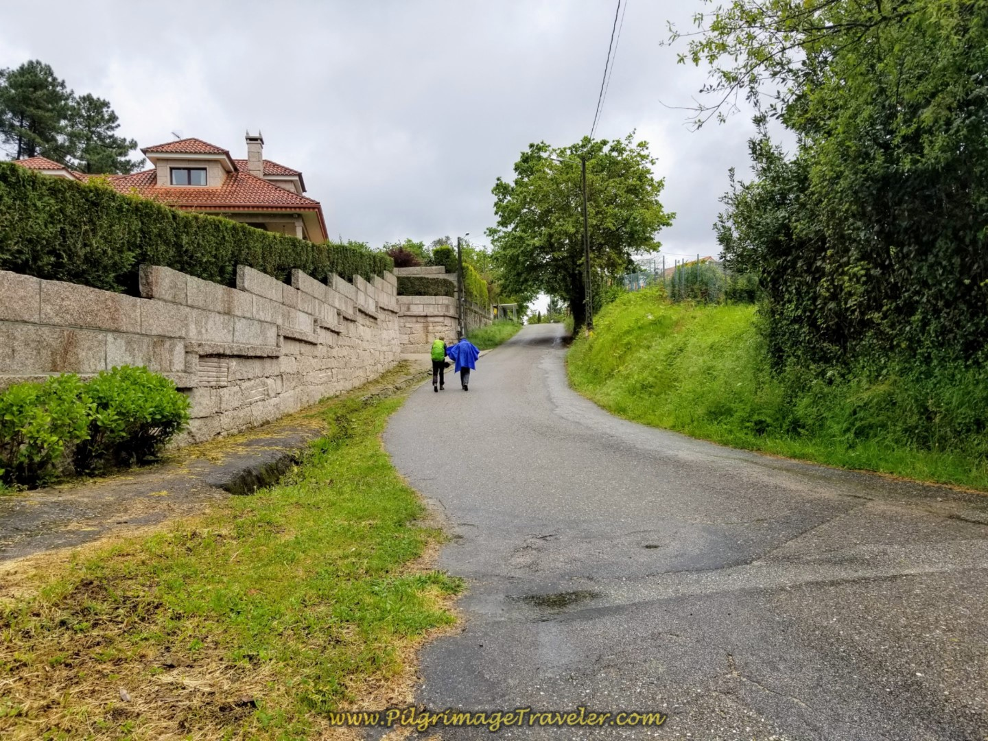 Uphill to Parque Cerdeiriñas on day twenty-one of the central route of the Portuguese Camino