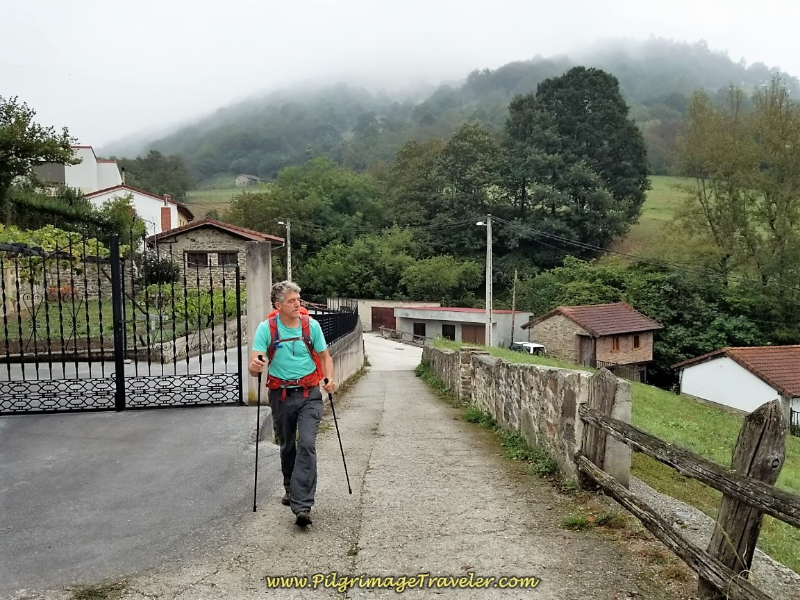 Short Hill Climb Through Cobertoría After Train Station on day five of the Camino de San Salvador