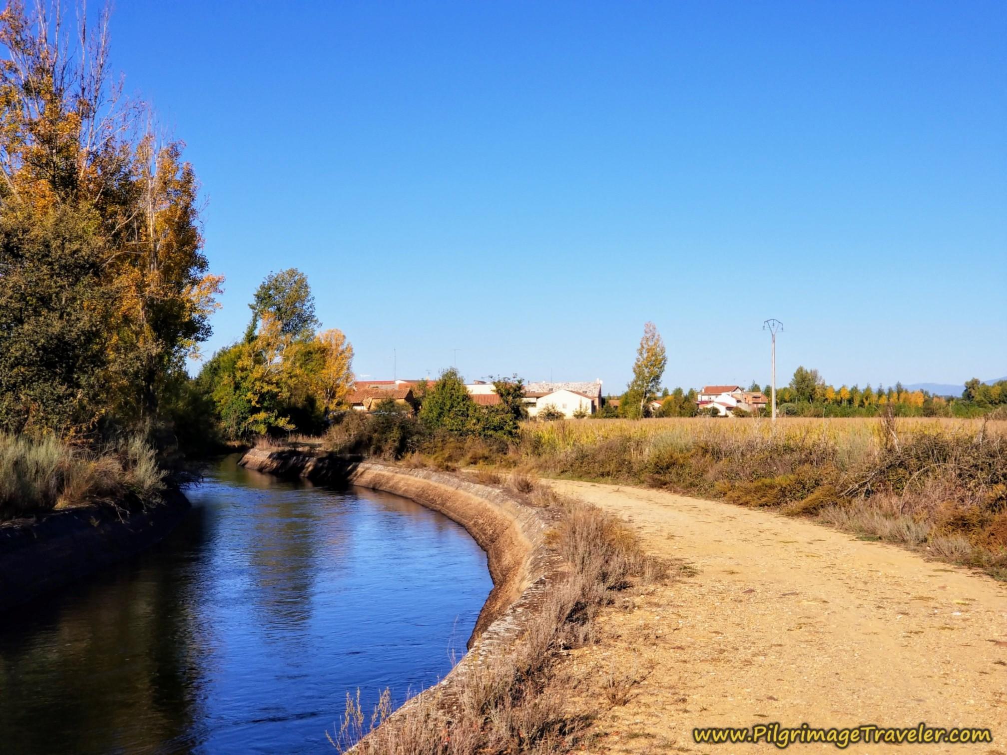 Next Town of Olleros de Tera in Sight on the Camino Sanabrés from Santa Marta de Tera to Rionegro del Puente
