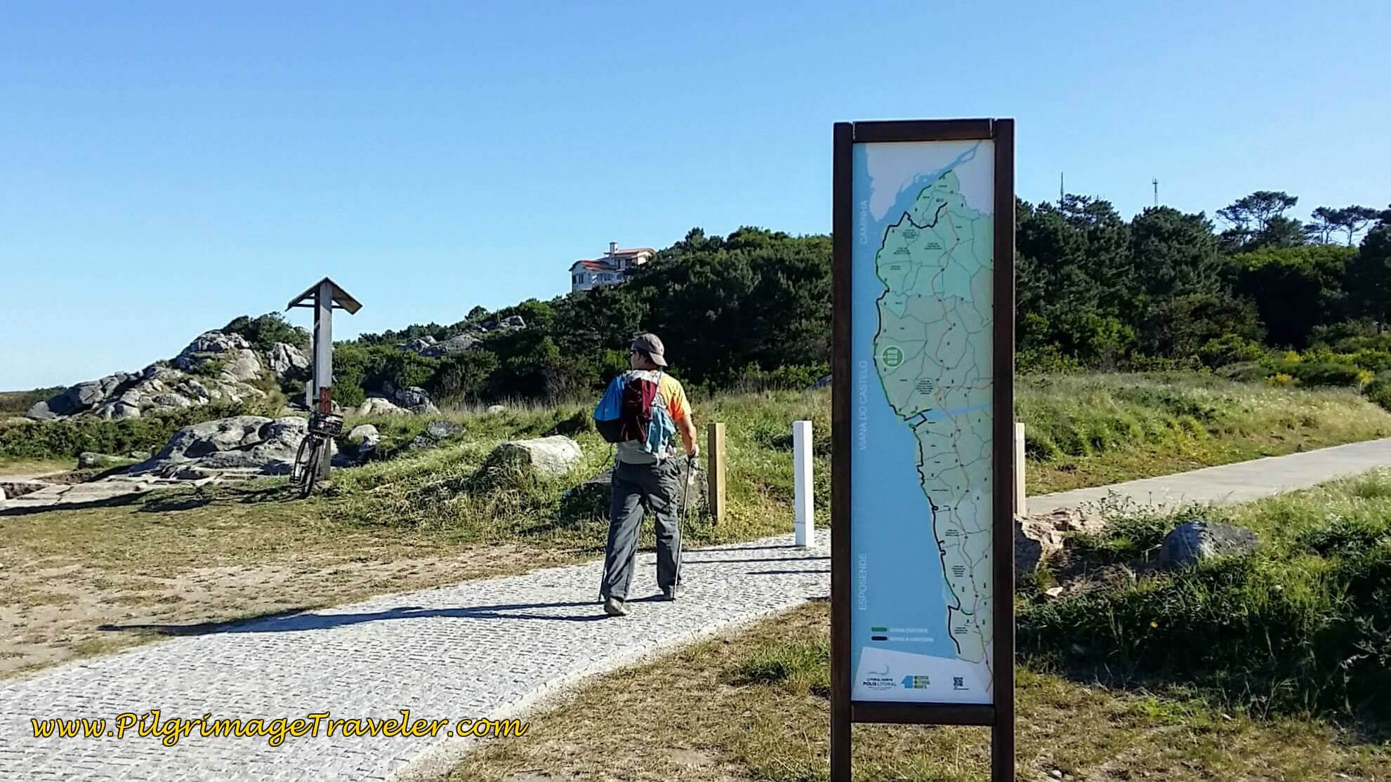 Right Turn on New Path to Montedor on day eighteen of the Camino Portugués on the Senda Litoral