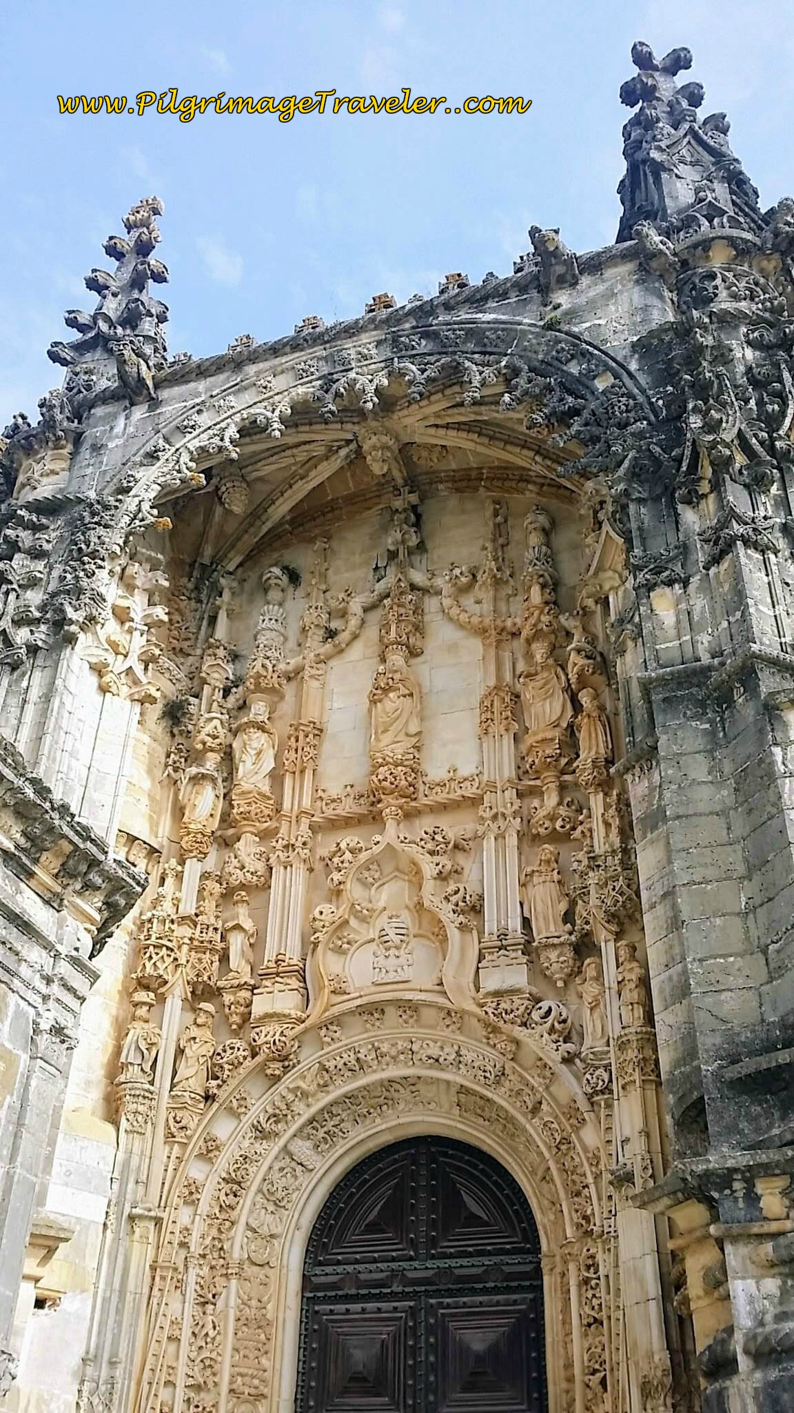Manueline Embellishments on Main Entrance to the Convento de Cristo, Tomar