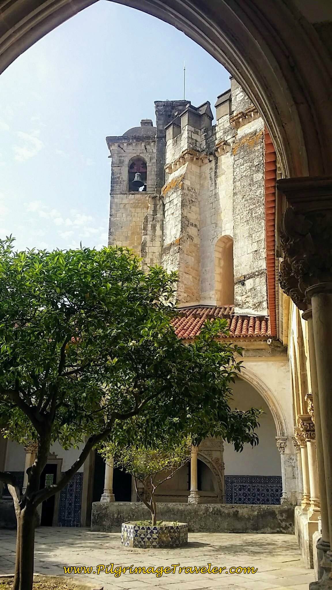 Bell Tower and Chapel from Inside Main Cloister, Convent of Christ, Tomar