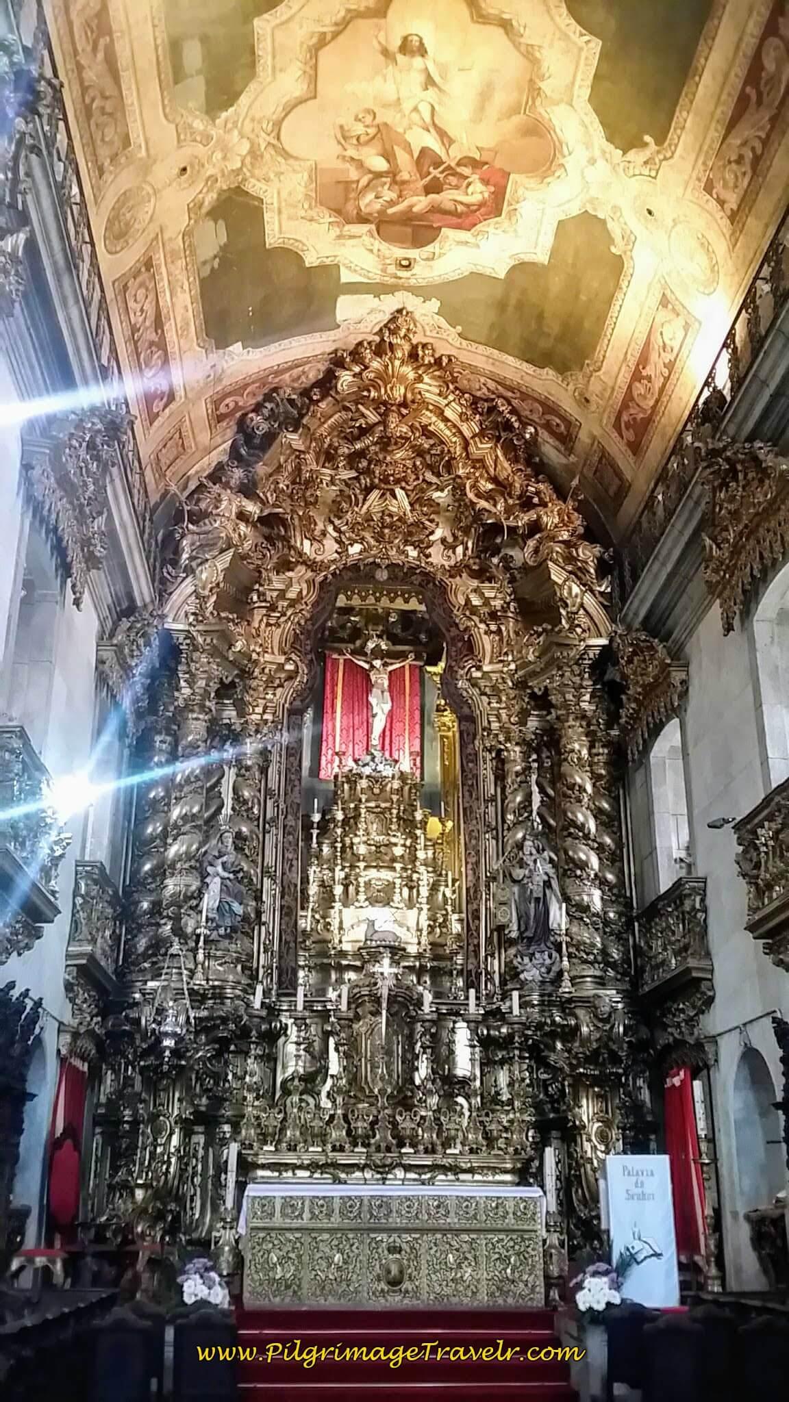 Main Altar of the Igreja do Carmo in Porto, Portugal
