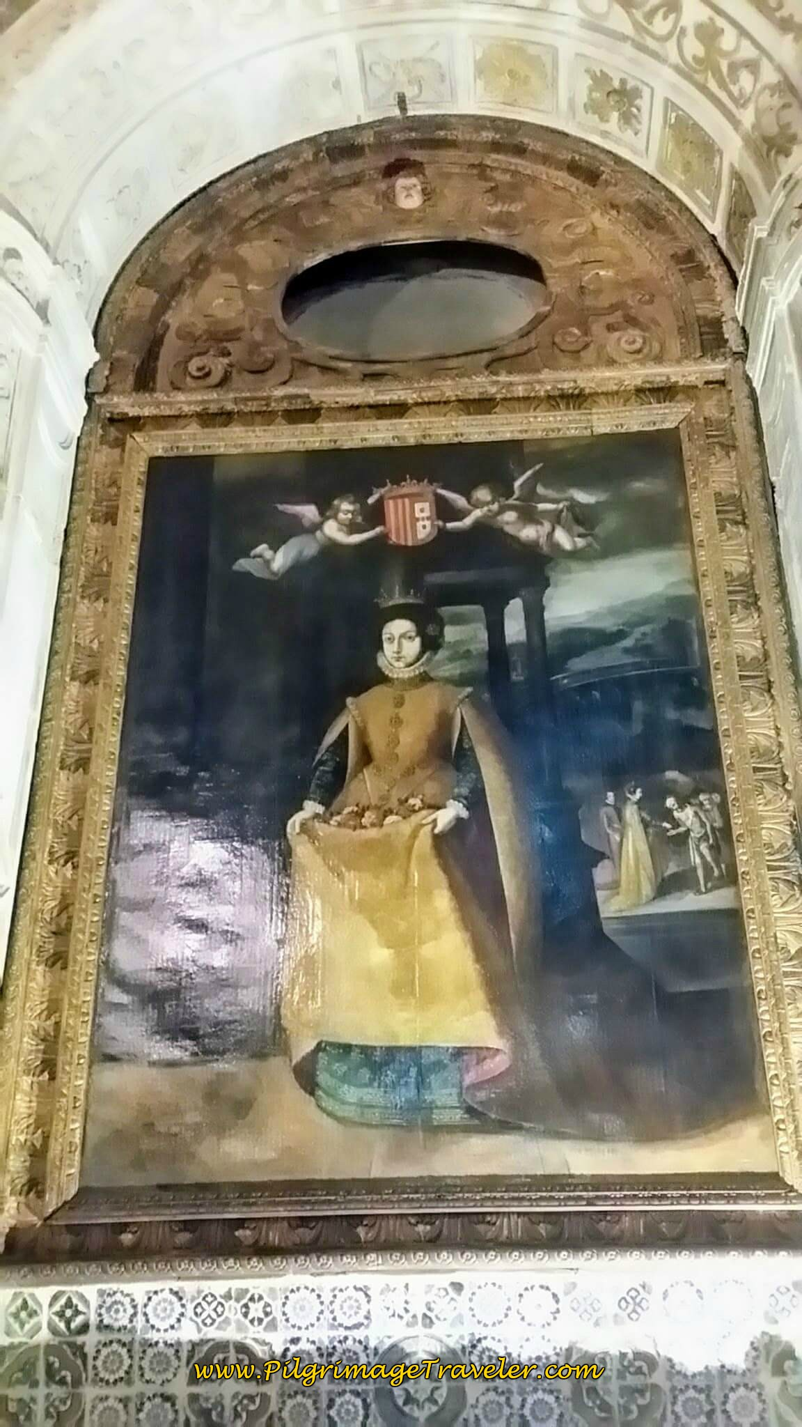 Portrait of the Queen, Saint Isabel in the Sé Velha, Coimbra