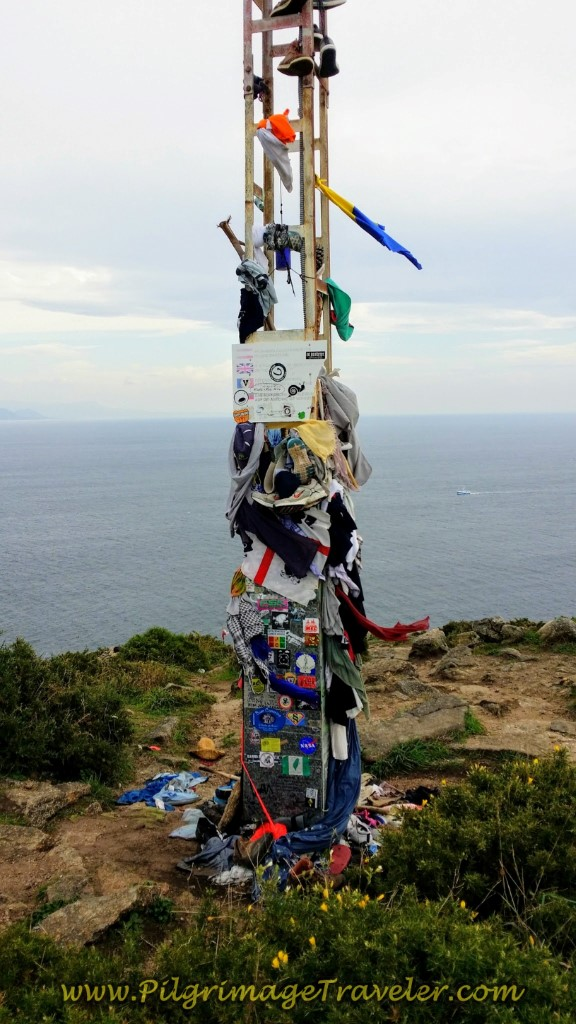 Discarded Pilgrim's Clothing and Momentos on Tower