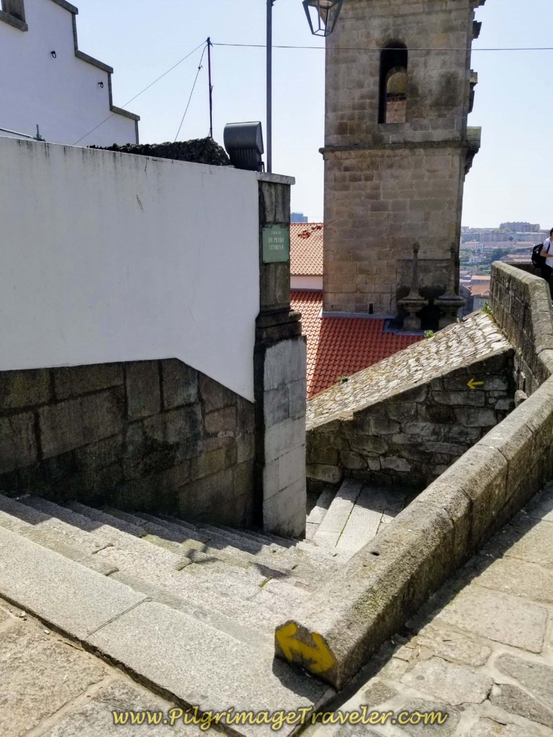 Steps to the Left of Lookout, day fifteen of the Central Route of the Camino Portugués, leaving Porto.