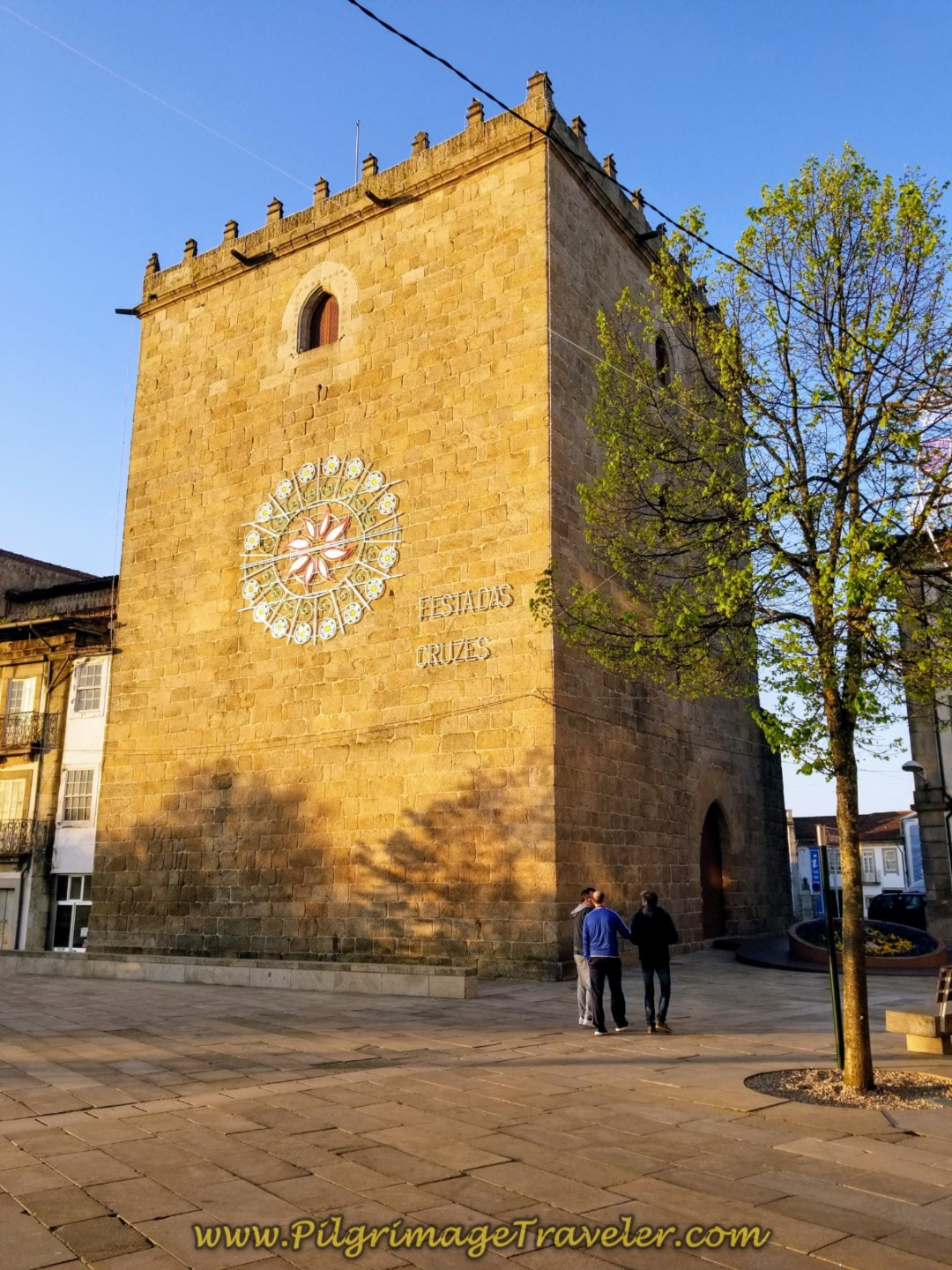Medieval Tower in Barcelos on day seventeen on the Central Route of the Camino Portugués