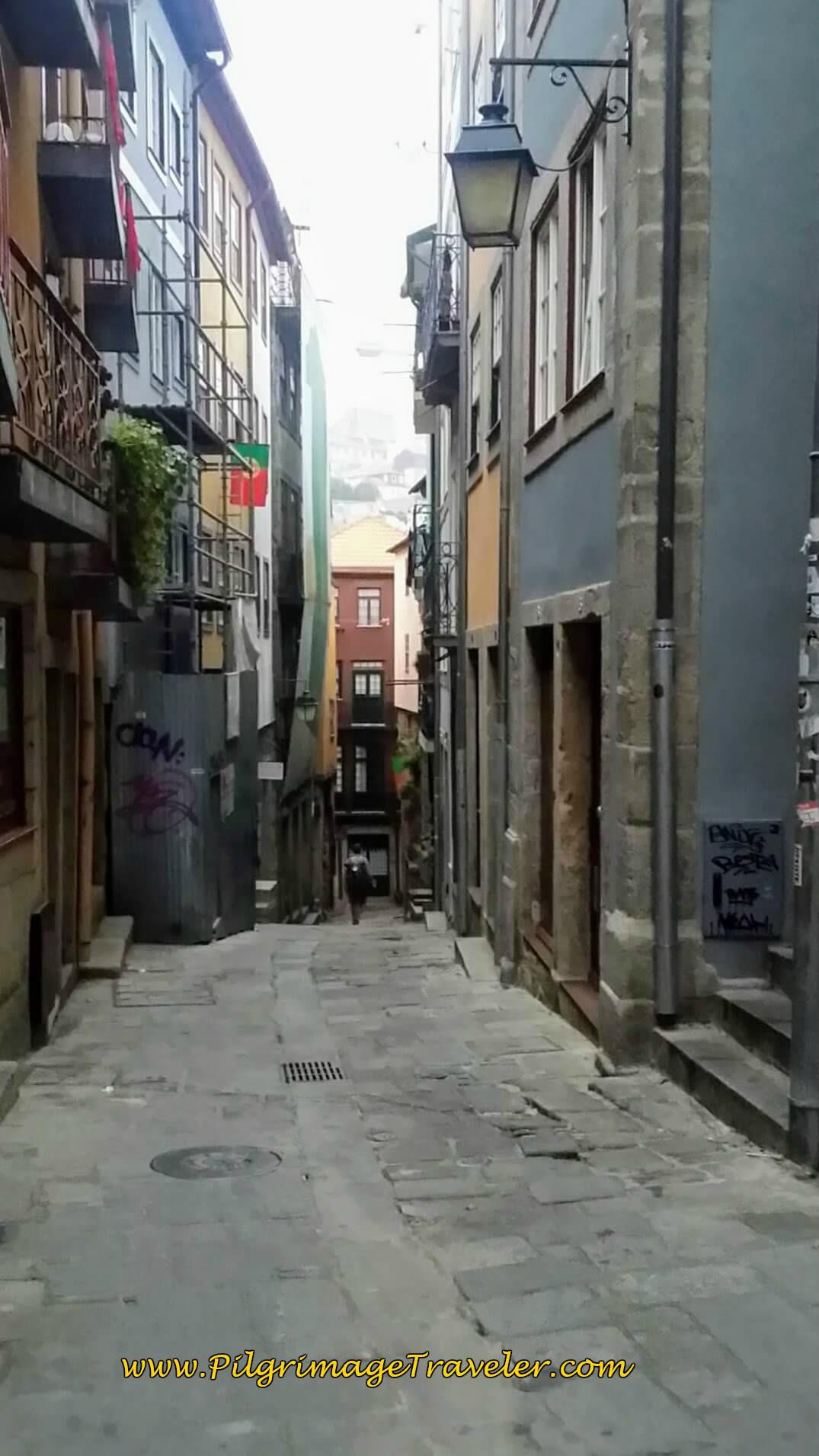 Rua da Santana in Porto on day fifteen of the Camino Portugués