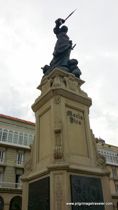 The Statue of Maria Pita, La Coruña, Galicia, Spain