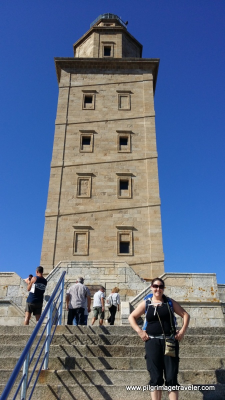 The Entrance Steps of the Tower of Hercules, La Coruña, Galicia, Spain