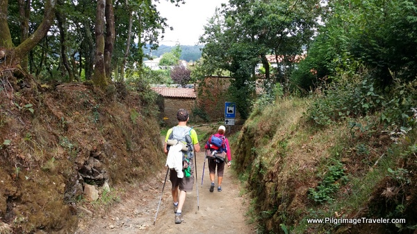 Walking towards a Rúa, Camino Frances