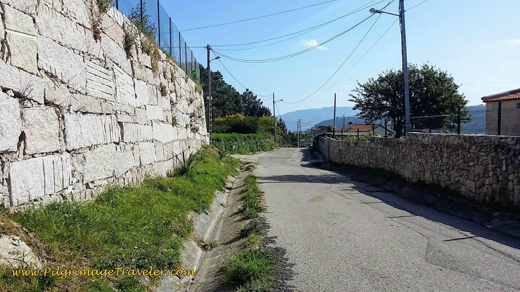 Ancient Road Joins O Cabreiro Street on day twenty, Camino Portugués da Costa