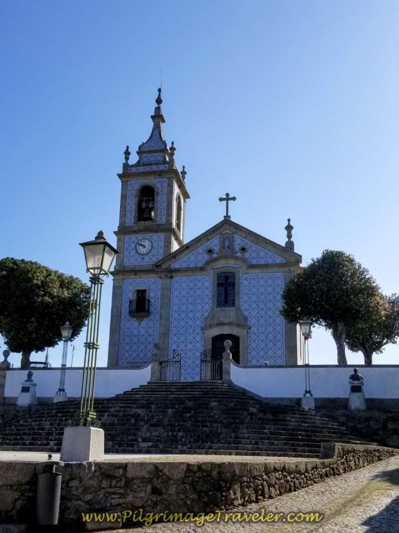 Azulejo-Tiled Igreja de Arcos on day sixteen on the Central Route of the Camino Portugués