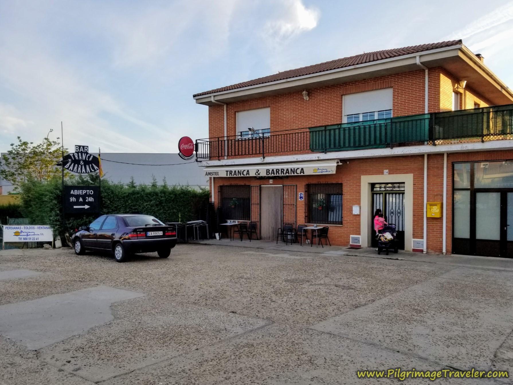 Café Bar Tranca y Barranca on the Vía de la Plata from Zamora to Montamarta