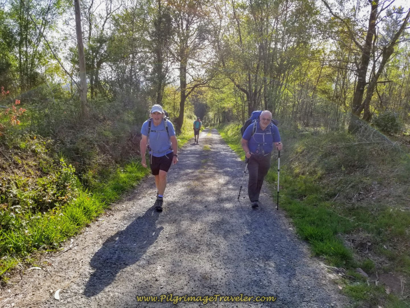 Rob and Steve Continue the Climb on day six of the Camino Inglés