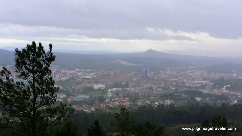 Another View of Santiago de Compostela from Monte Pedroso, Galicia, Spain