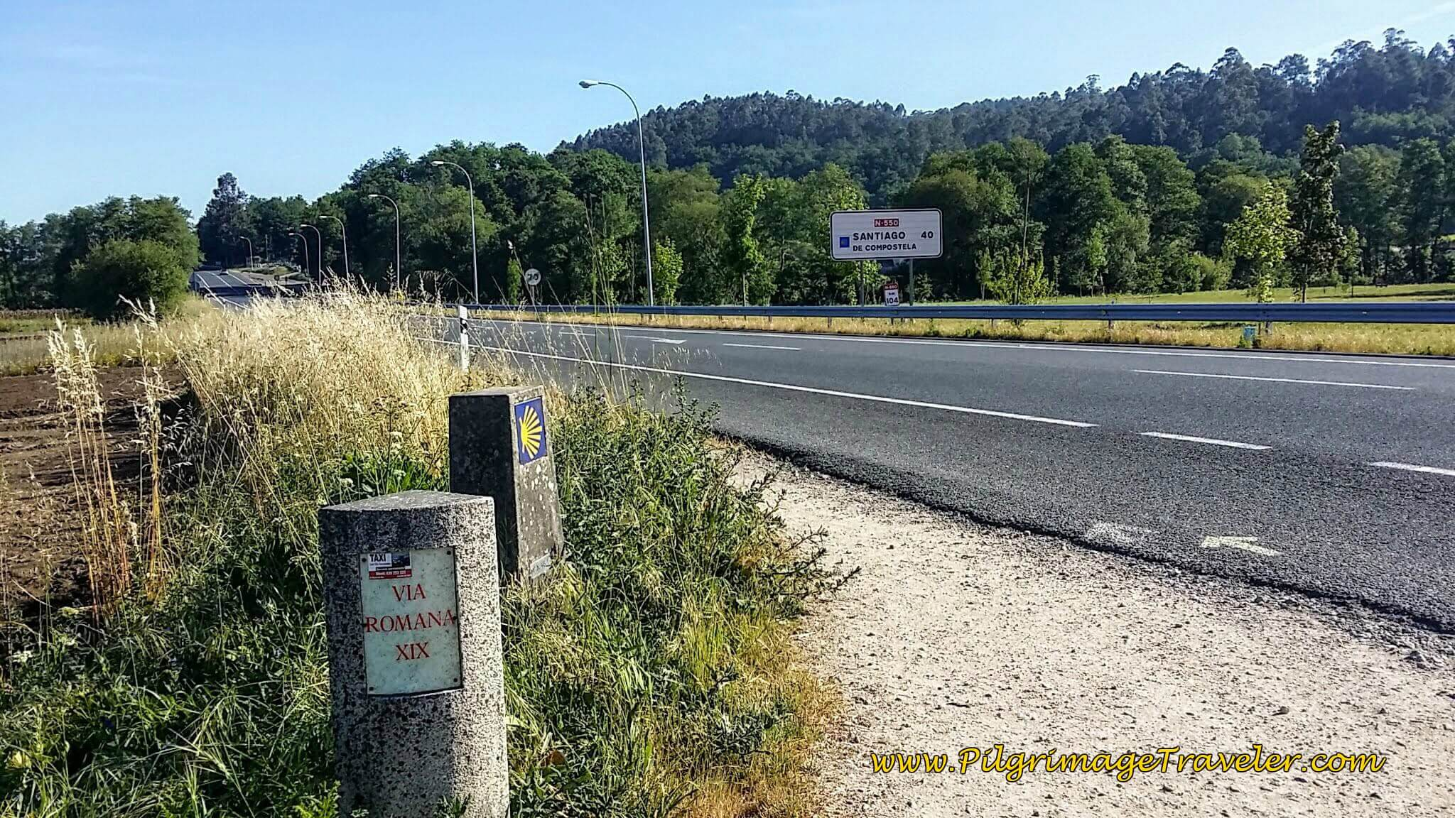 Join the N-550 Highway and Turn Left on day twenty-three, Camino Portugués