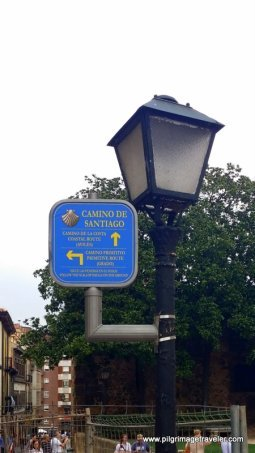 Sign Post Marks the Start of the Original Way, Oviedo, Spain