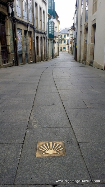 Street Waymark by the Tourism Office in Lugo, Spain