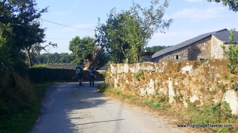 Walking Into Nadela, Rich and Magdalena, Galicia, Spain