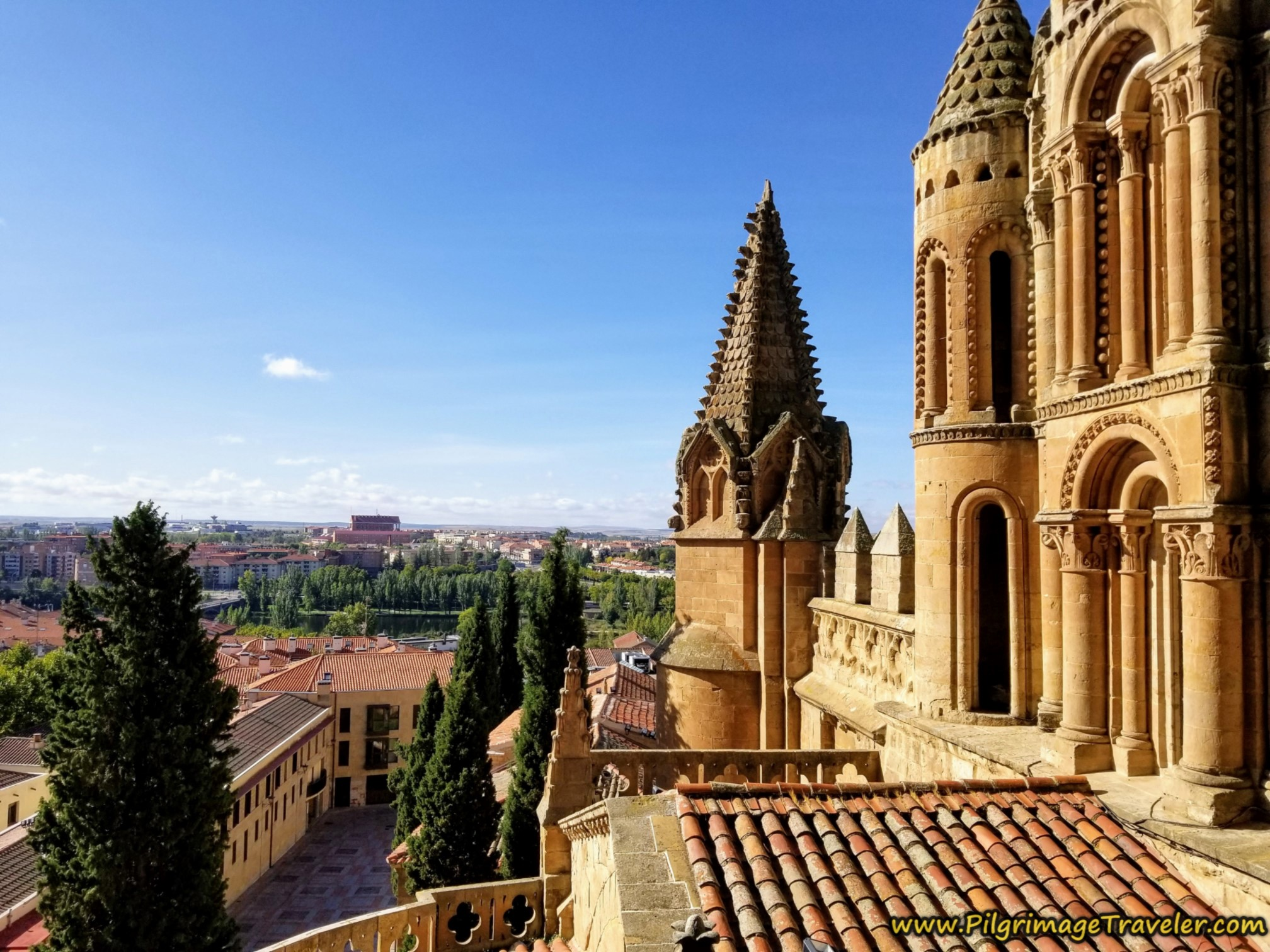 Rooftop View of Salamanca Towards the River, from the Ieronimos Tower tour