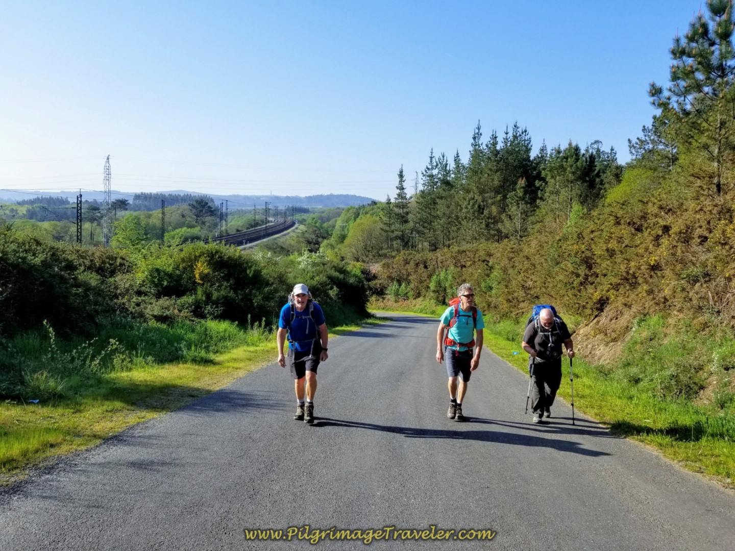 Rob, Rich and Steve on the Steep Climb on day eight of the Camino Inglés