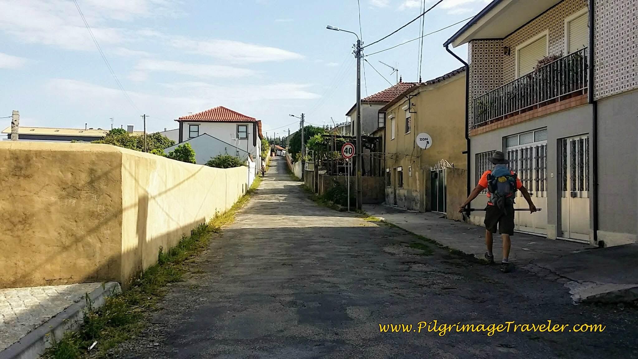 Along the Rua Dom Manuel on the Portuguese Way