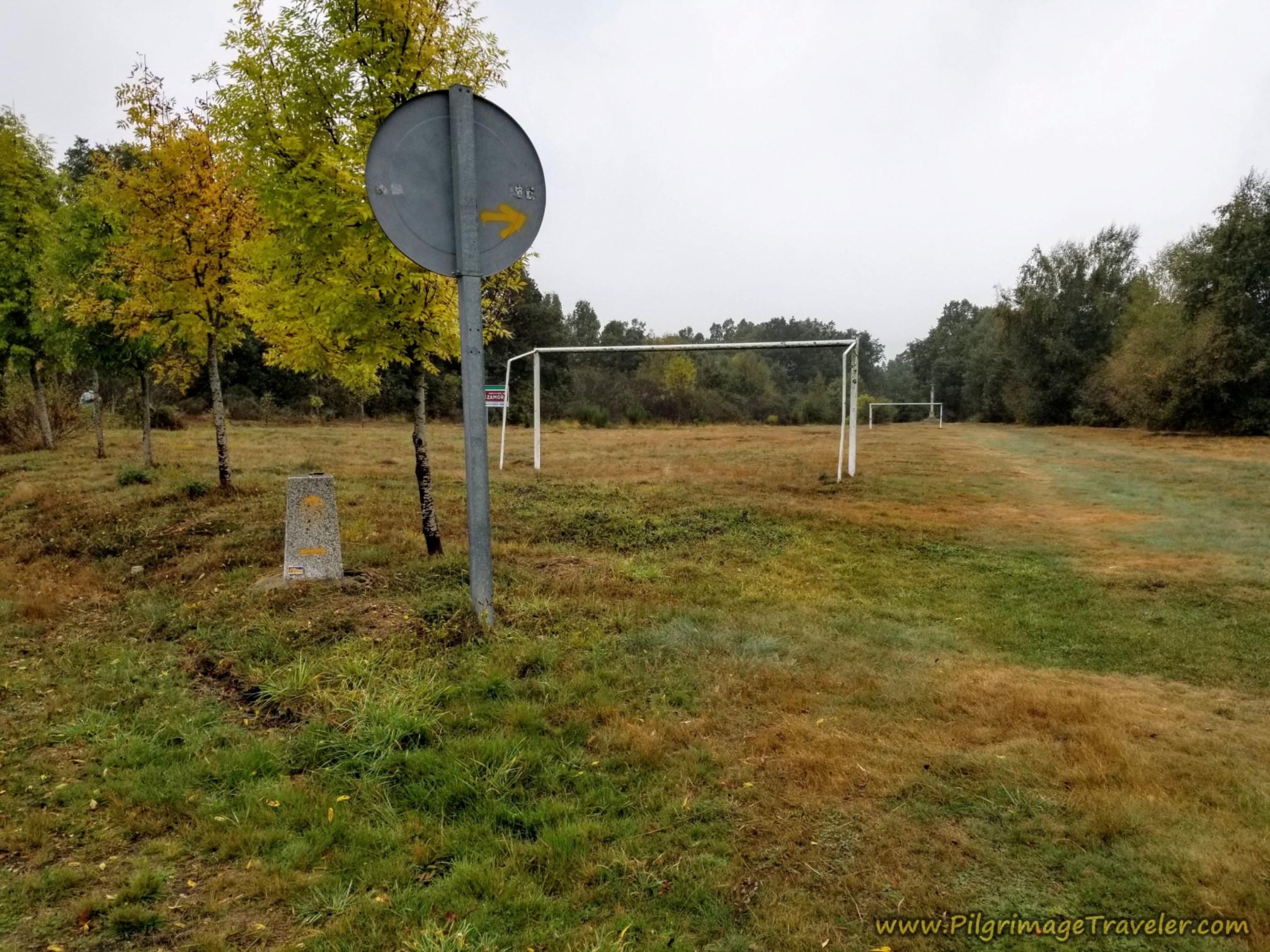 Right Turn at Soccer Field