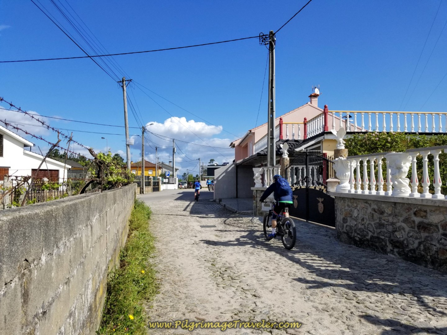 Entering the Town of Paços on day nineteen on the Central Route of the Portuguese Camino