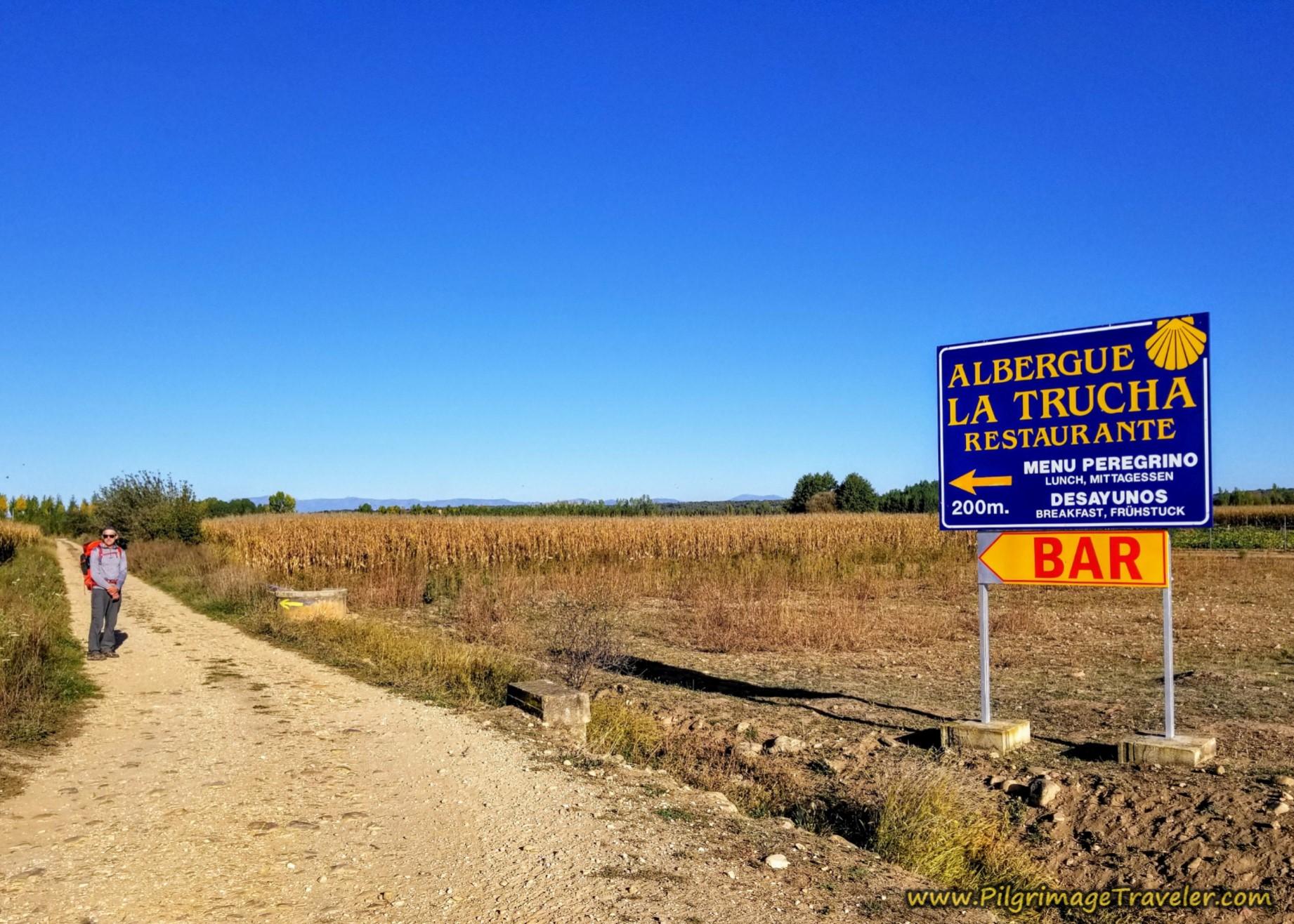 Welcome Bar La Trucha Sign