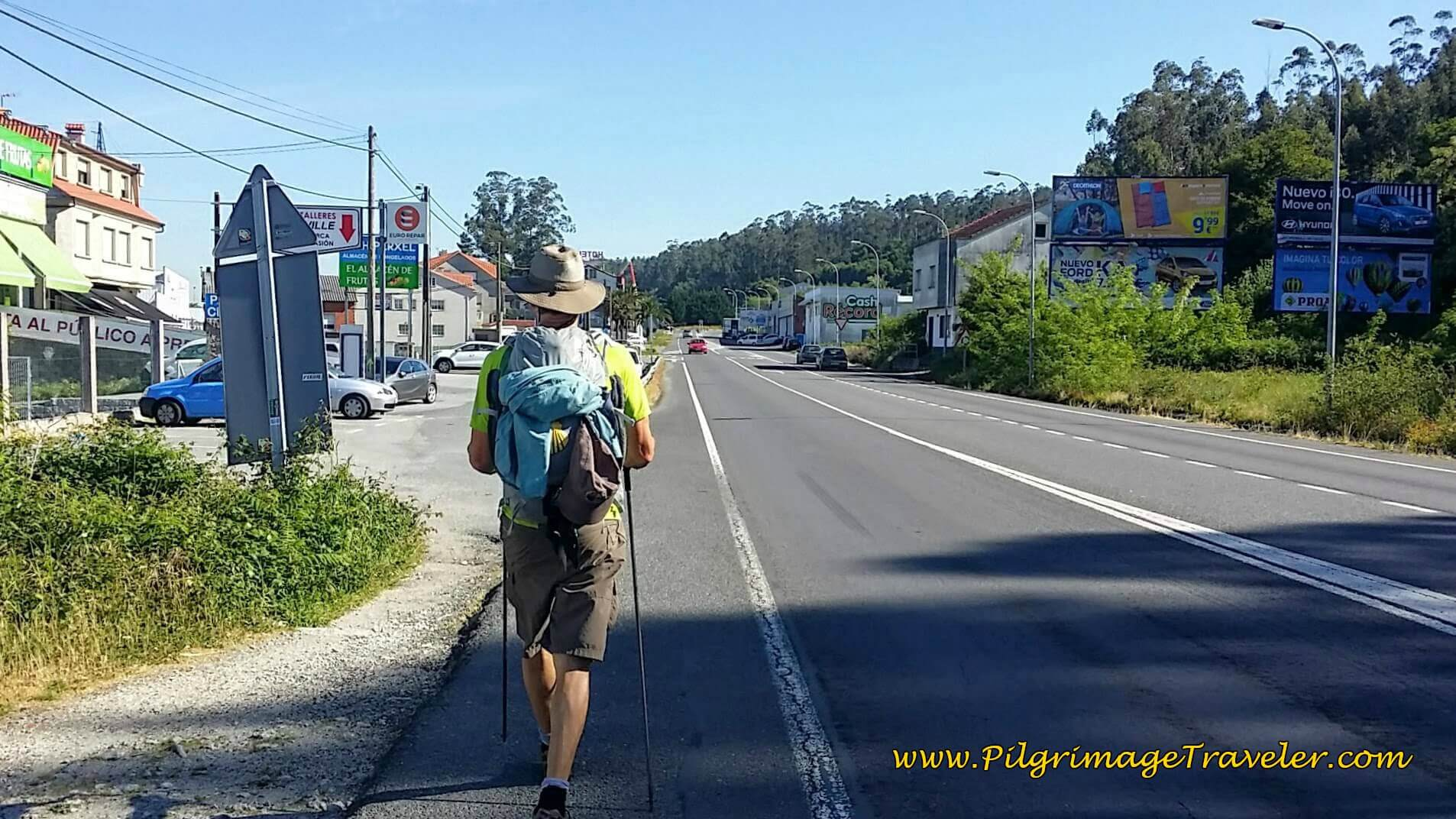 Rich Back on the N-550 on Day Twenty-Four, Portuguese Camino