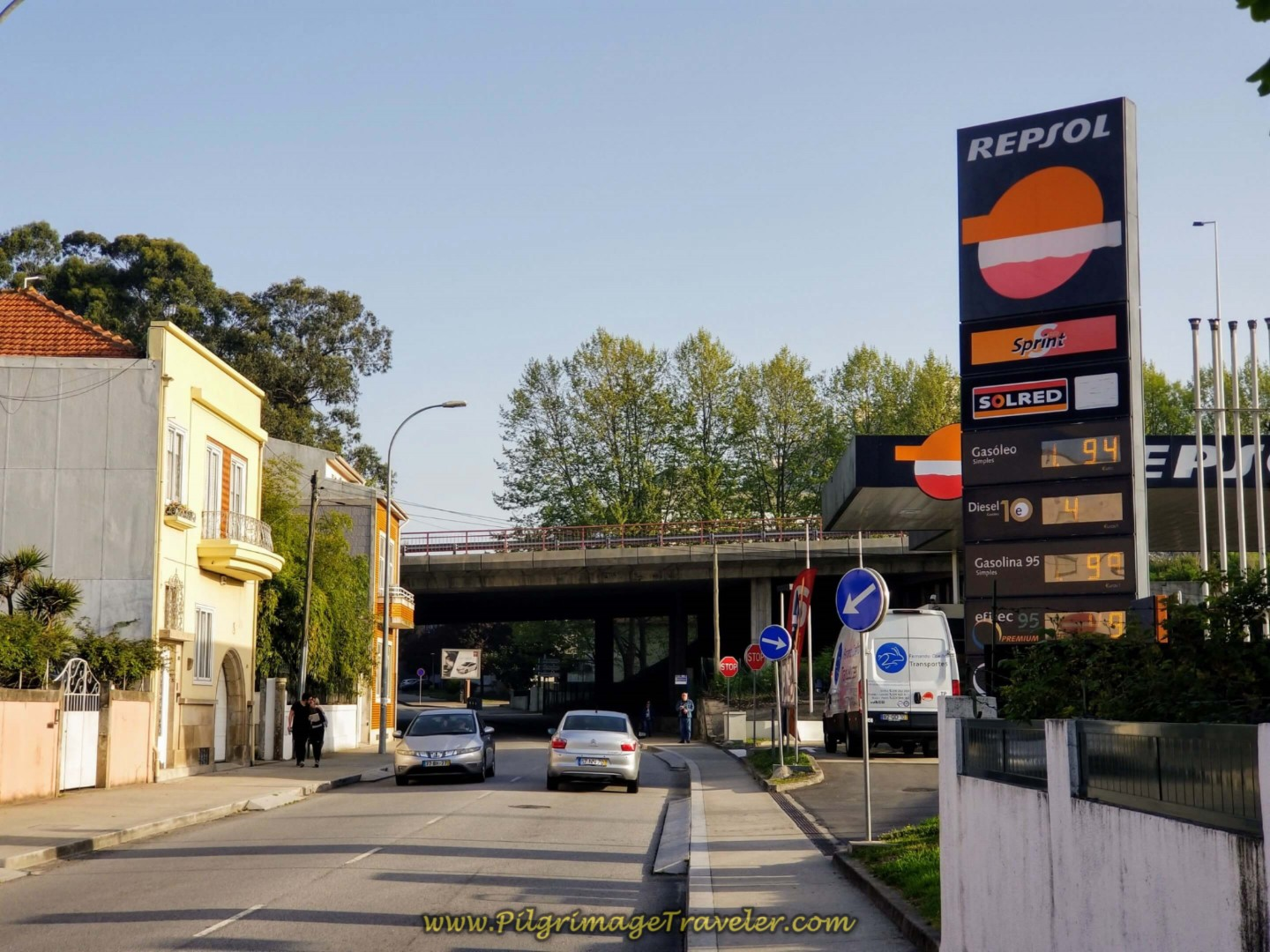The Repsol Before the A20 Overpass in Porto on day fifteen on the Central Route of the Camino Portugués