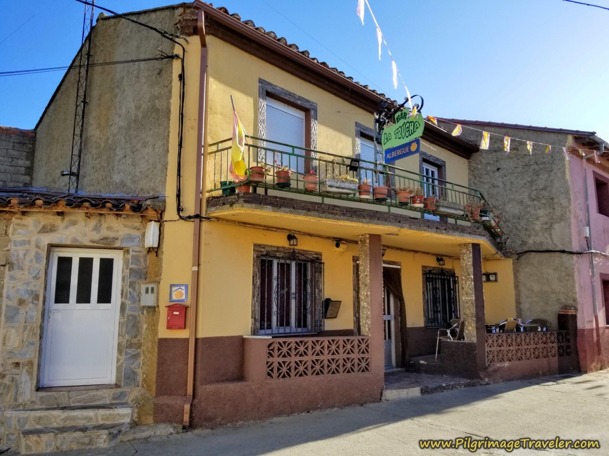Albergue Restaurante La Trucha, Olleros de Tera on the Camino Sanabrés from Santa Marta de Tera to Rionegro del Puente