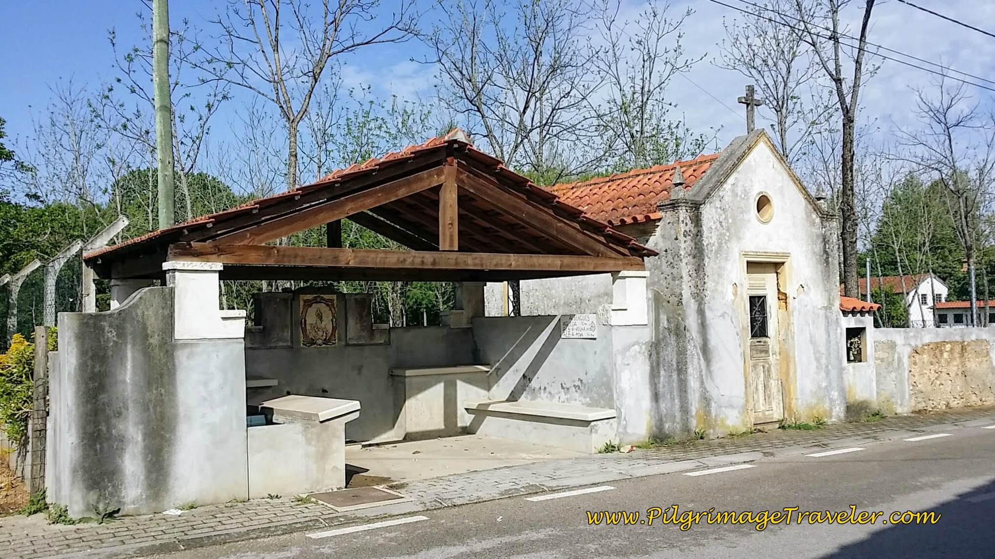 Roadside Chapel and Resting Area in Coito on the Camino Portugués